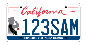 Drive To Remember License Plate
